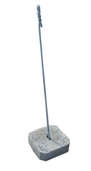 Ancre compl te plot b ton 30 x 30 cm ancrage fixation de poteaux filpack - Plot ciment pour poteau ...