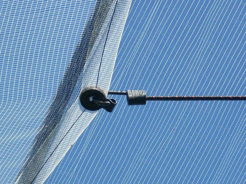 connecteur filet avec pont plaquette de fixation filet anti gr le filpack groupe. Black Bedroom Furniture Sets. Home Design Ideas